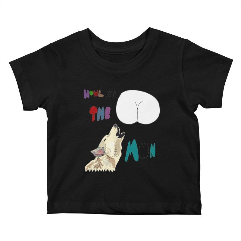 Howl at the Moon Kids Baby T-Shirt by LlamapajamaTs's Artist Shop