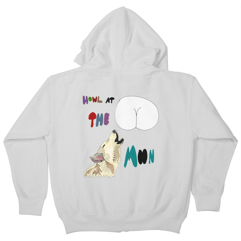Howl at the Moon Kids Zip-Up Hoody by LlamapajamaTs's Artist Shop