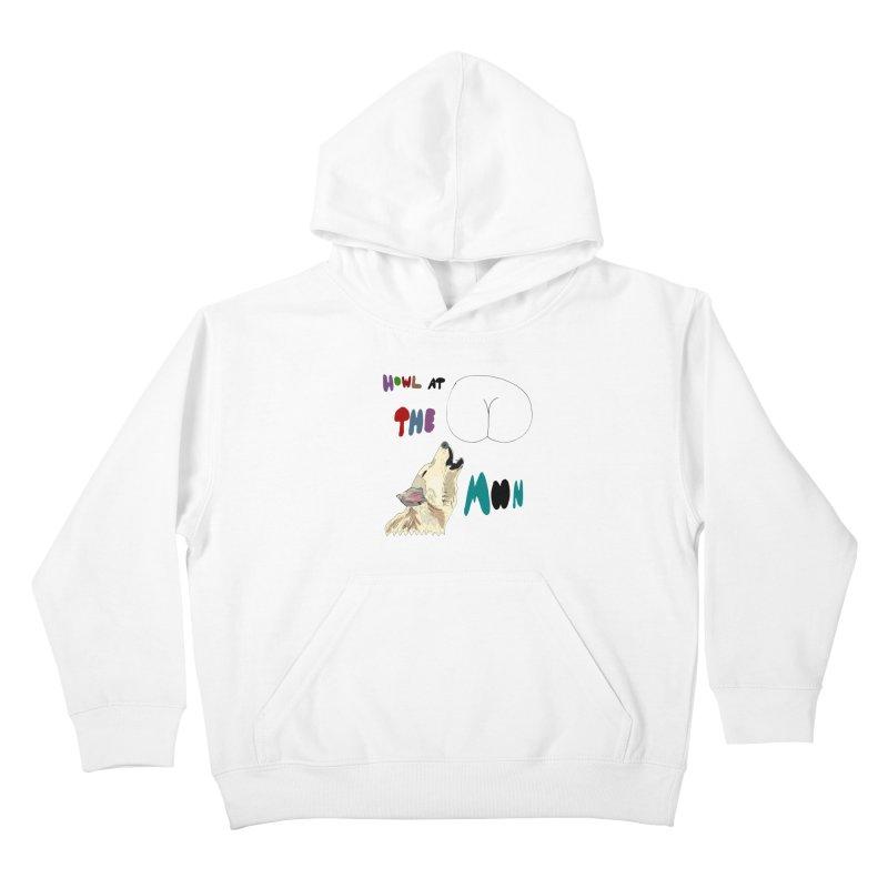 Howl at the Moon Kids Pullover Hoody by LlamapajamaTs's Artist Shop
