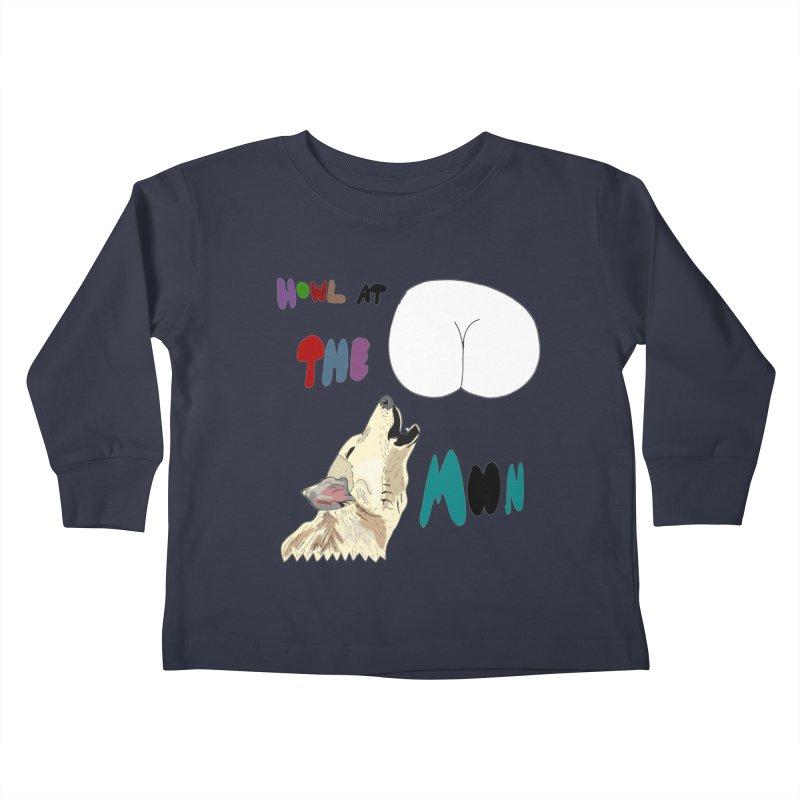 Howl at the Moon Kids Toddler Longsleeve T-Shirt by LlamapajamaTs's Artist Shop