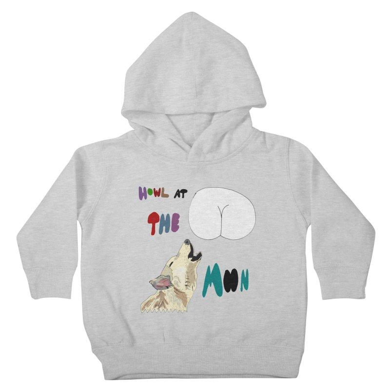 Howl at the Moon Kids Toddler Pullover Hoody by LlamapajamaTs's Artist Shop