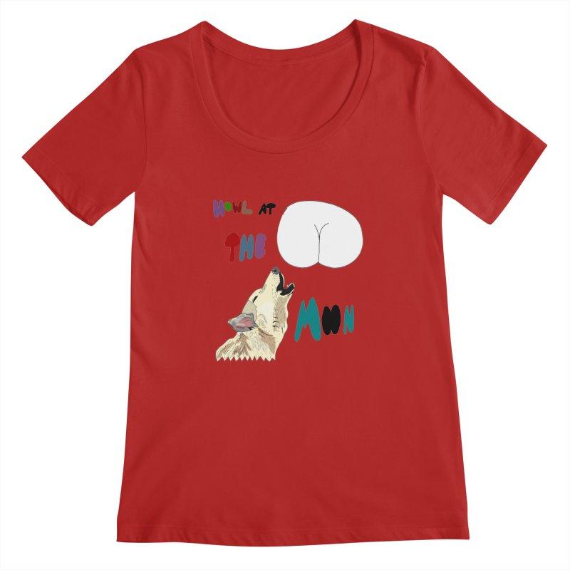 Howl at the Moon Women's Scoopneck by LlamapajamaTs's Artist Shop