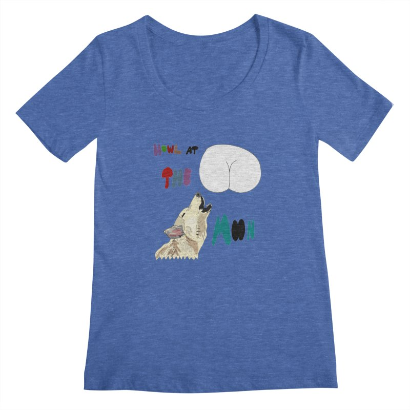 Howl at the Moon Women's Scoopneck by LlamapajamaTs's Artist Shop