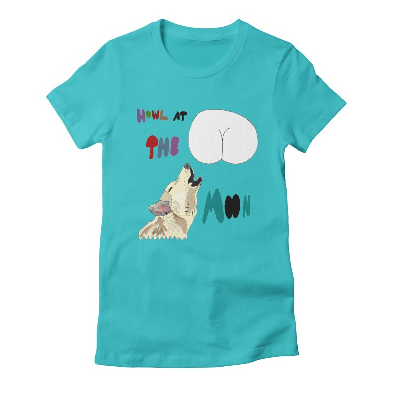 Howl at the Moon Women's Fitted T-Shirt by LlamapajamaTs's Artist Shop