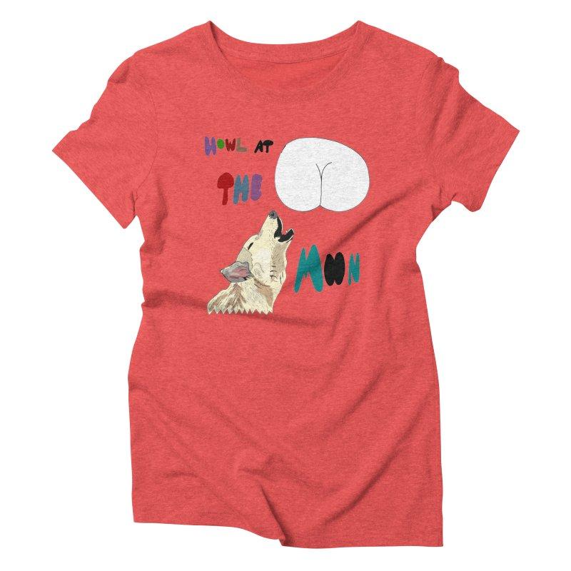 Howl at the Moon Women's Triblend T-shirt by LlamapajamaTs's Artist Shop