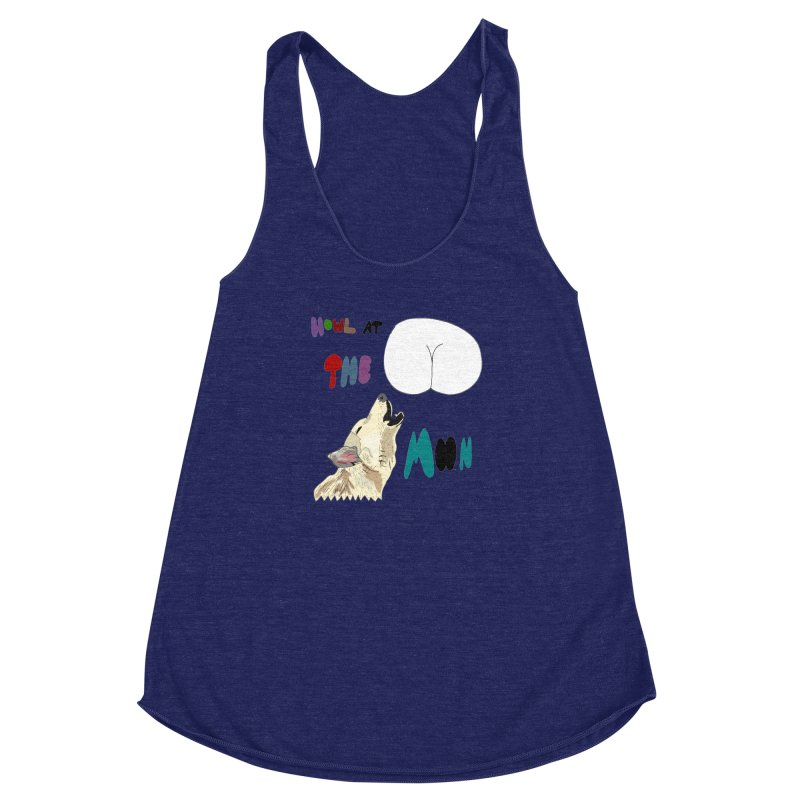 Howl at the Moon Women's Racerback Triblend Tank by LlamapajamaTs's Artist Shop