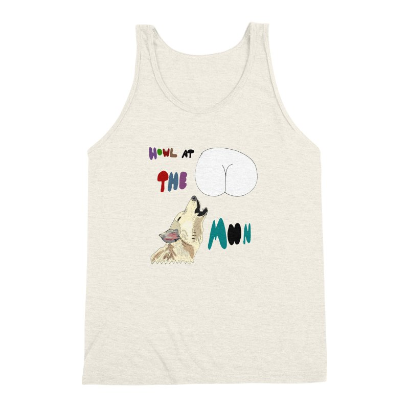 Howl at the Moon Men's Triblend Tank by LlamapajamaTs's Artist Shop