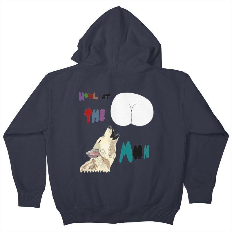 Howl at the Moon Kids Zip-Up Hoody by LlamapajamaTs's Artist Shop
