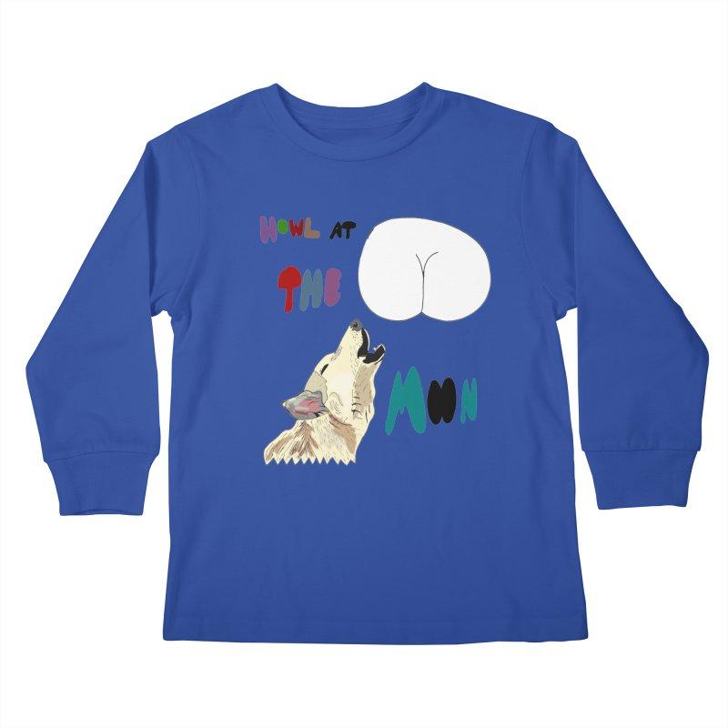 Howl at the Moon Kids Longsleeve T-Shirt by LlamapajamaTs's Artist Shop