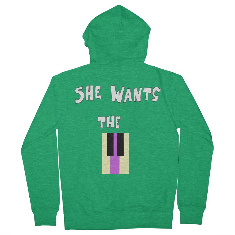 She Wants the D Men's Zip-Up Hoody by LlamapajamaTs's Artist Shop