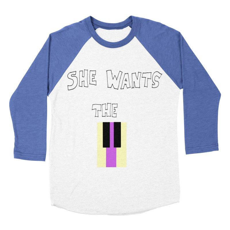 She Wants the D Women's Baseball Triblend T-Shirt by LlamapajamaTs's Artist Shop