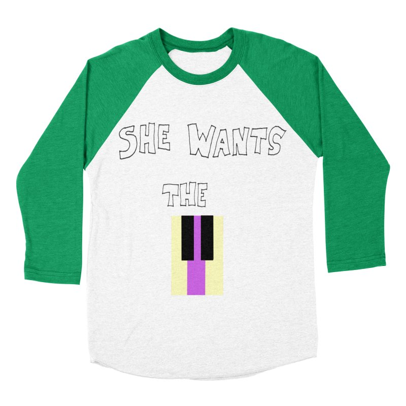She Wants the D Men's Baseball Triblend T-Shirt by LlamapajamaTs's Artist Shop
