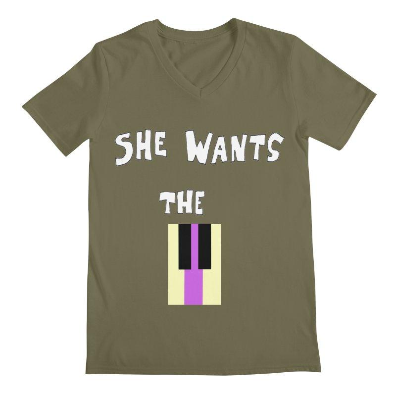 She Wants the D Men's V-Neck by LlamapajamaTs's Artist Shop