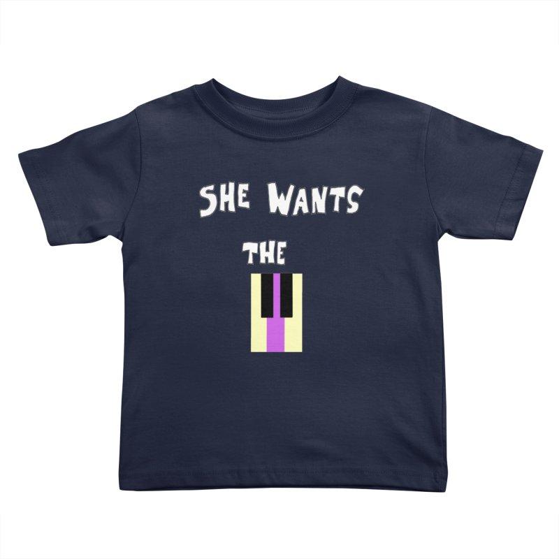 She Wants the D Kids Toddler T-Shirt by LlamapajamaTs's Artist Shop