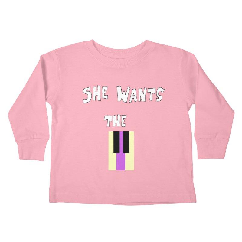 She Wants the D Kids Toddler Longsleeve T-Shirt by LlamapajamaTs's Artist Shop