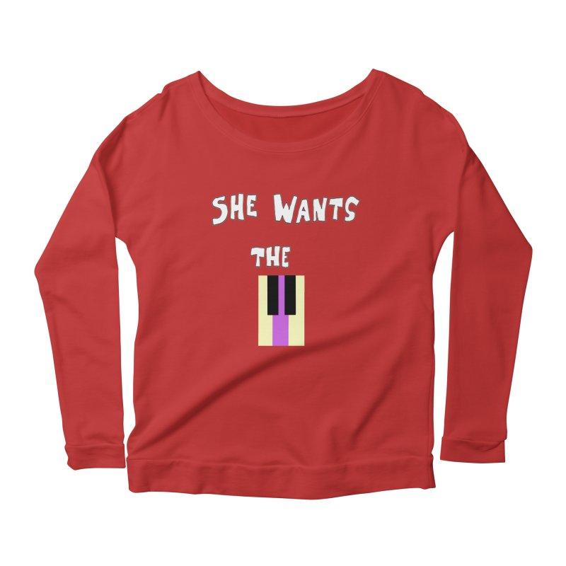 She Wants the D Women's Longsleeve Scoopneck  by LlamapajamaTs's Artist Shop