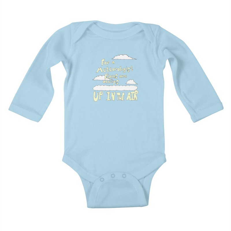 Meteorologist Plans Kids Baby Longsleeve Bodysuit by LlamapajamaTs's Artist Shop