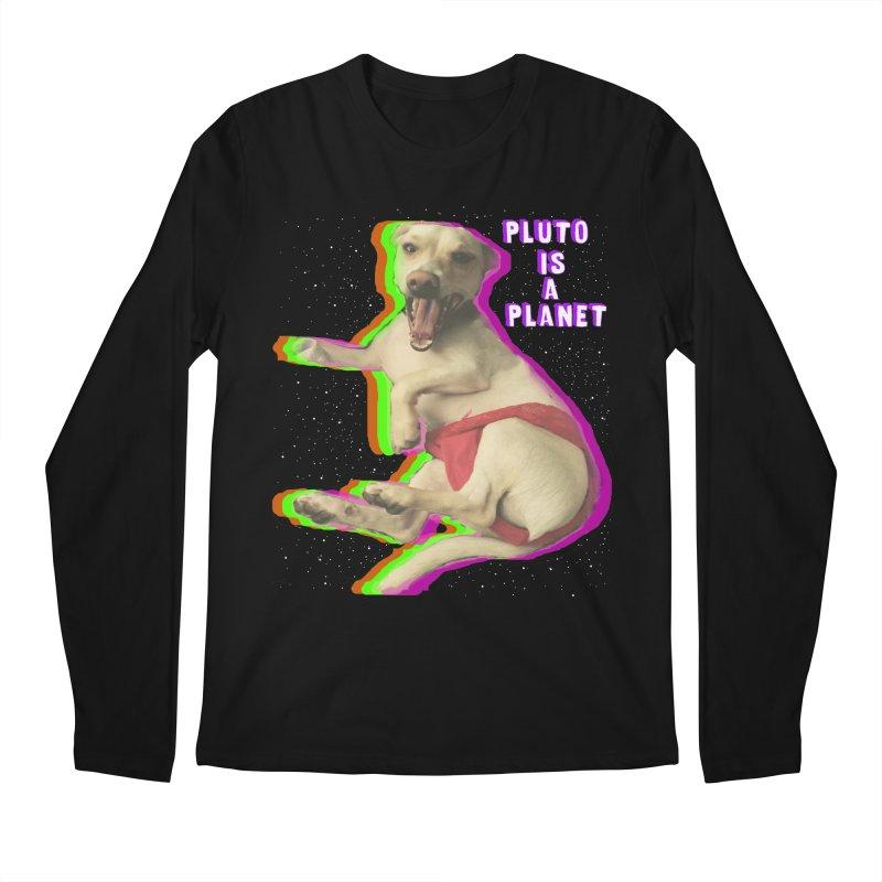 Pluto is a Planet!! Men's Longsleeve T-Shirt by LlamapajamaTs's Artist Shop