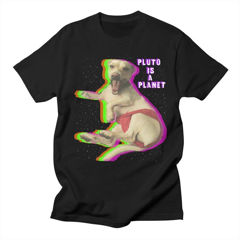 Pluto is a Planet!! Men's T-shirt by LlamapajamaTs's Artist Shop