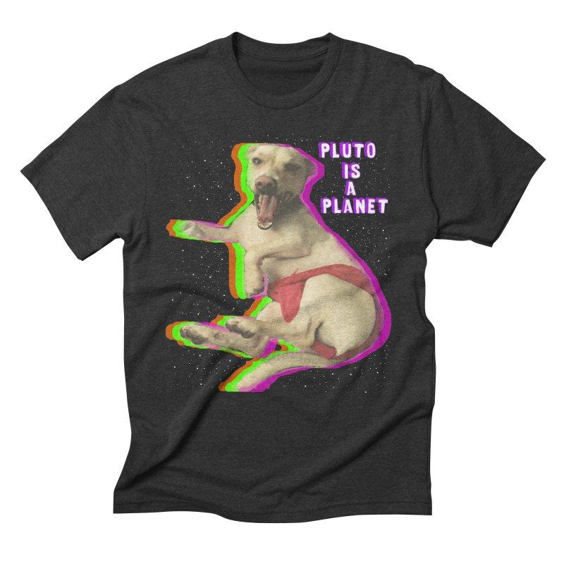 Pluto is a Planet!! Men's Triblend T-shirt by LlamapajamaTs's Artist Shop