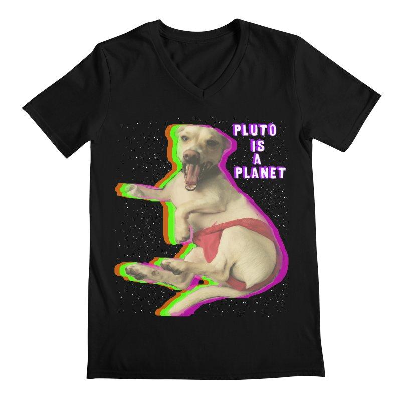 Pluto is a Planet!! Men's V-Neck by LlamapajamaTs's Artist Shop