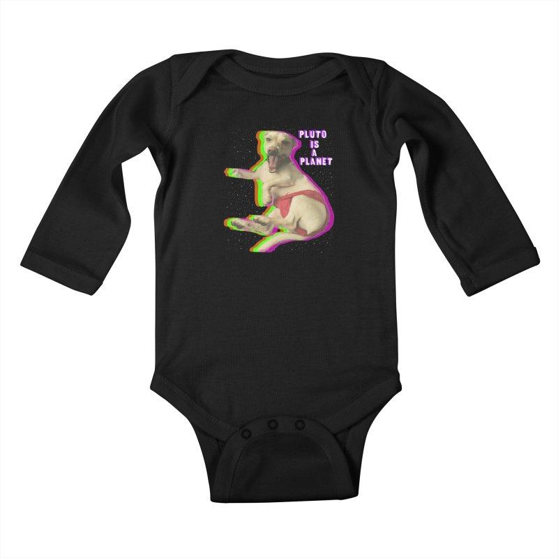 Pluto is a Planet!! Kids Baby Longsleeve Bodysuit by LlamapajamaTs's Artist Shop