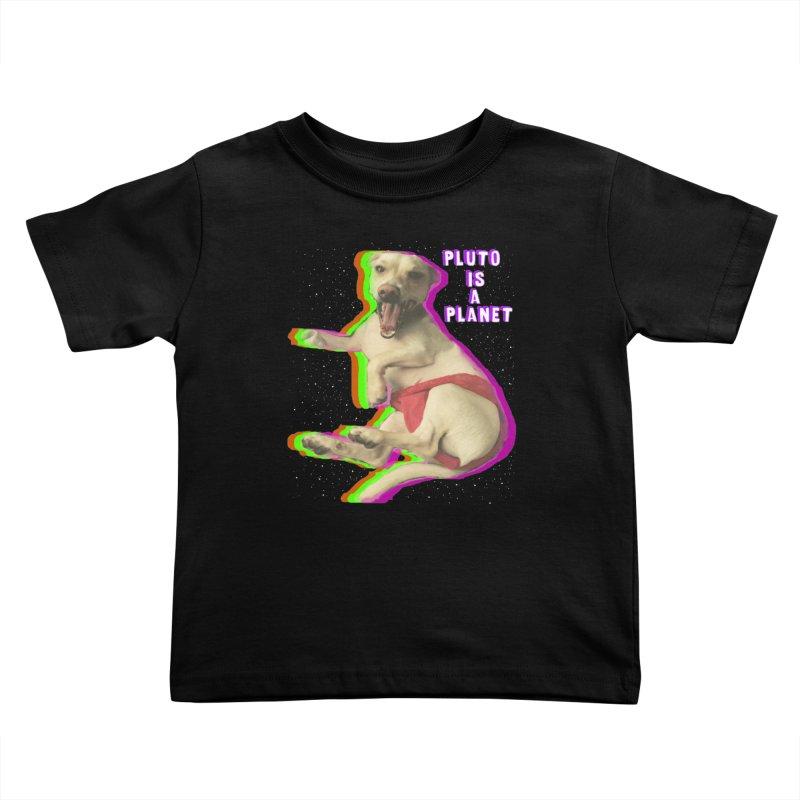 Pluto is a Planet!! Kids Toddler T-Shirt by LlamapajamaTs's Artist Shop