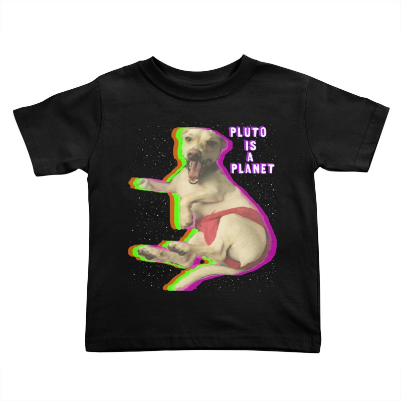 Pluto is a Planet!! Kids Toddler T-Shirt by LlamapajamaTs's Artist Shop