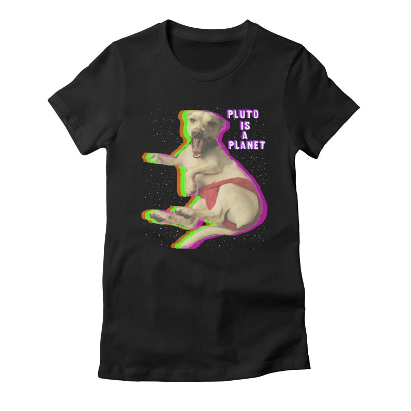 Pluto is a Planet!! Women's Fitted T-Shirt by LlamapajamaTs's Artist Shop