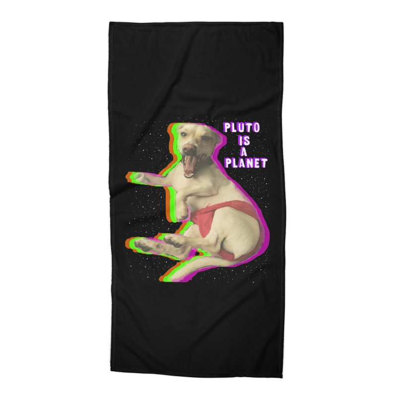 Pluto is a Planet!! Accessories Beach Towel by LlamapajamaTs's Artist Shop