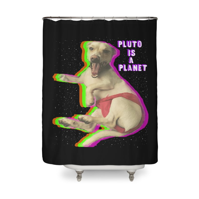 Pluto is a Planet!! Home Shower Curtain by LlamapajamaTs's Artist Shop