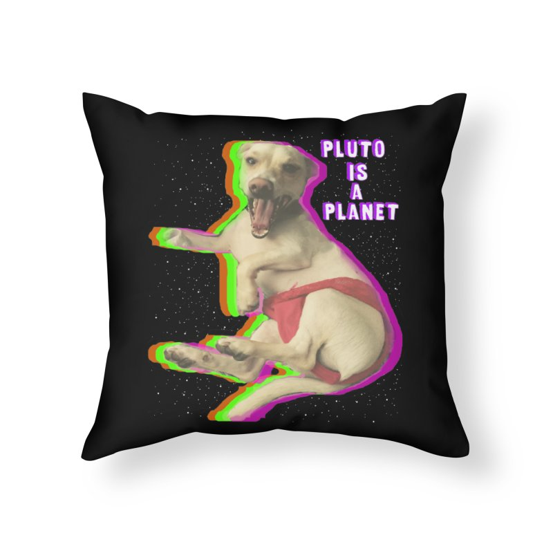 Pluto is a Planet!! Home Throw Pillow by LlamapajamaTs's Artist Shop