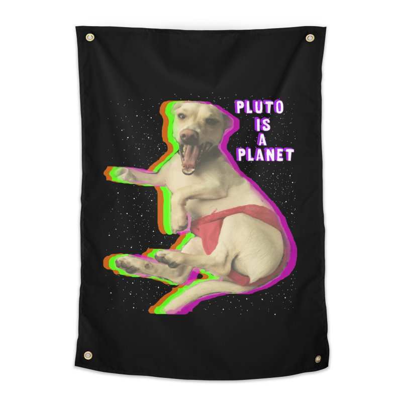 Pluto is a Planet!! Home Tapestry by LlamapajamaTs's Artist Shop