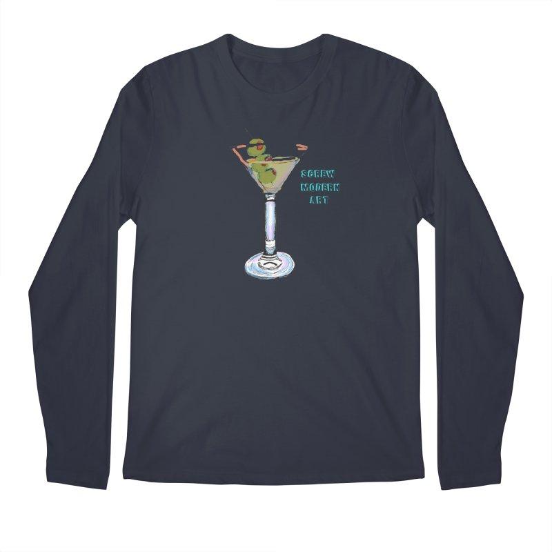 Screw Modern Art Men's Longsleeve T-Shirt by LlamapajamaTs's Artist Shop