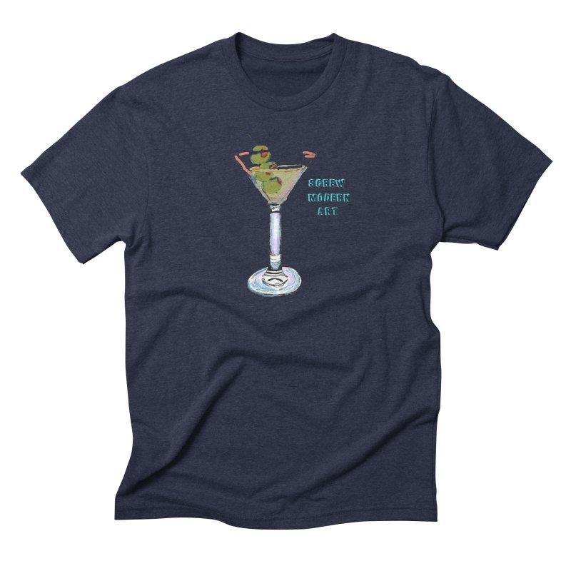 Screw Modern Art Men's Triblend T-Shirt by LlamapajamaTs's Artist Shop