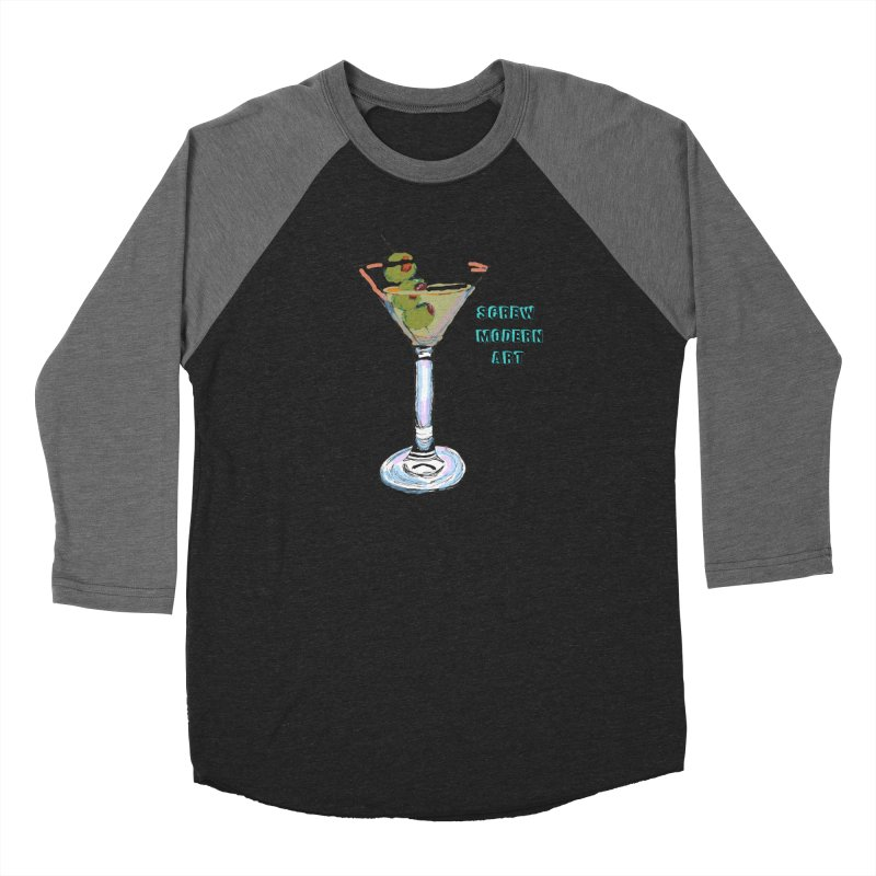 Screw Modern Art Women's Baseball Triblend T-Shirt by LlamapajamaTs's Artist Shop