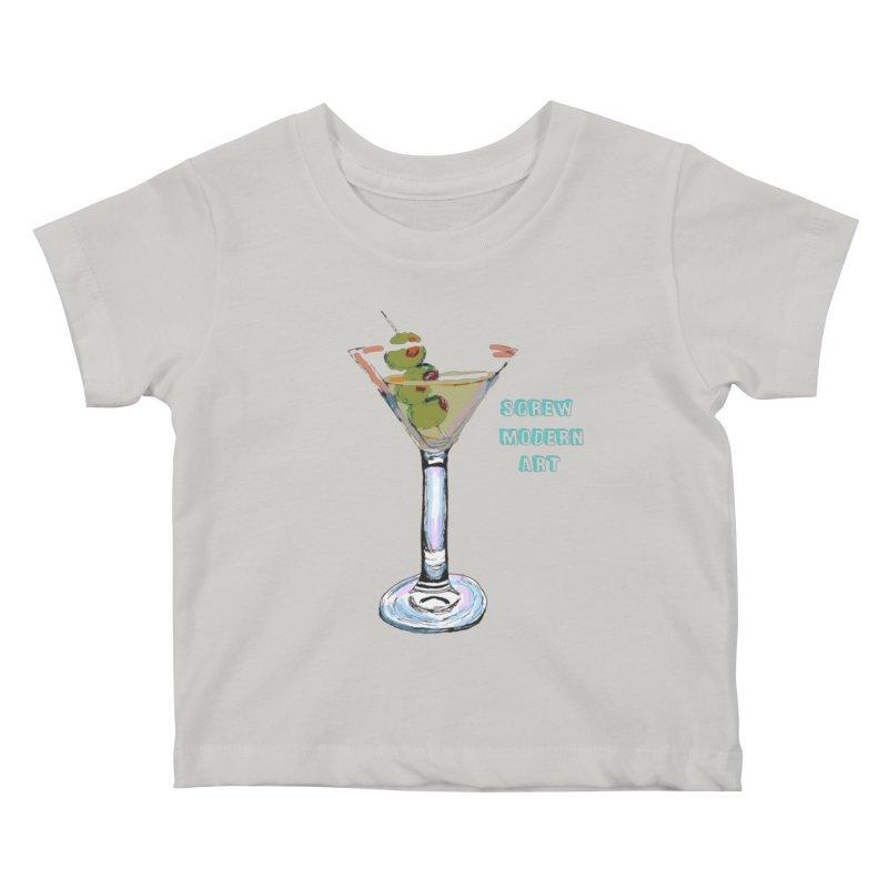 Screw Modern Art Kids Baby T-Shirt by LlamapajamaTs's Artist Shop