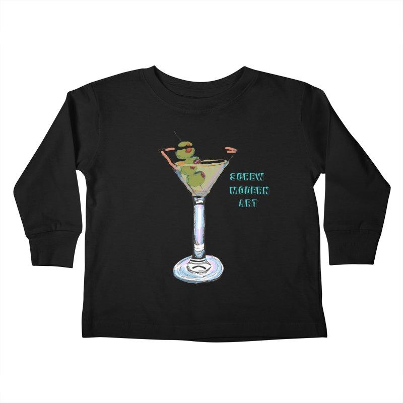 Screw Modern Art Kids Toddler Longsleeve T-Shirt by LlamapajamaTs's Artist Shop