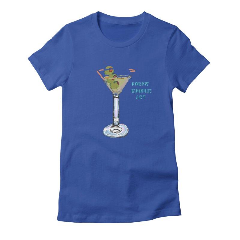 Screw Modern Art Women's Fitted T-Shirt by LlamapajamaTs's Artist Shop