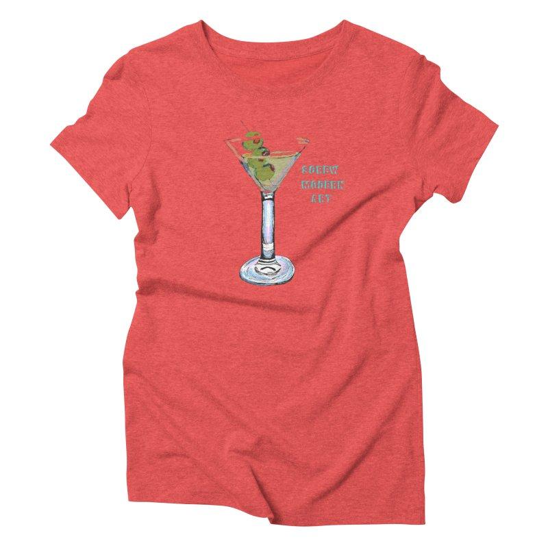 Screw Modern Art Women's Triblend T-shirt by LlamapajamaTs's Artist Shop