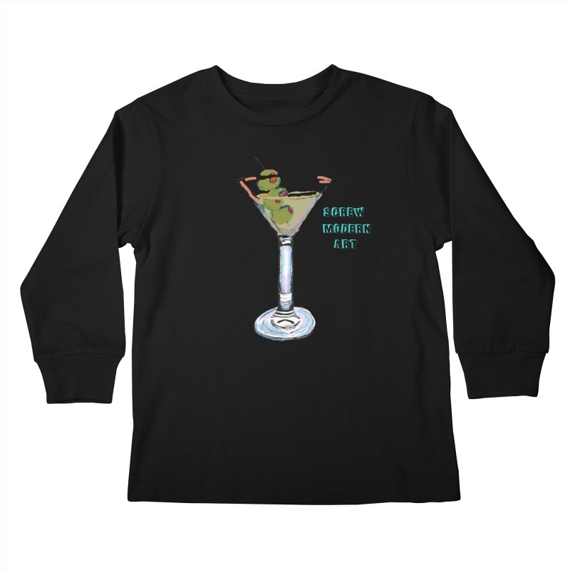 Screw Modern Art Kids Longsleeve T-Shirt by LlamapajamaTs's Artist Shop