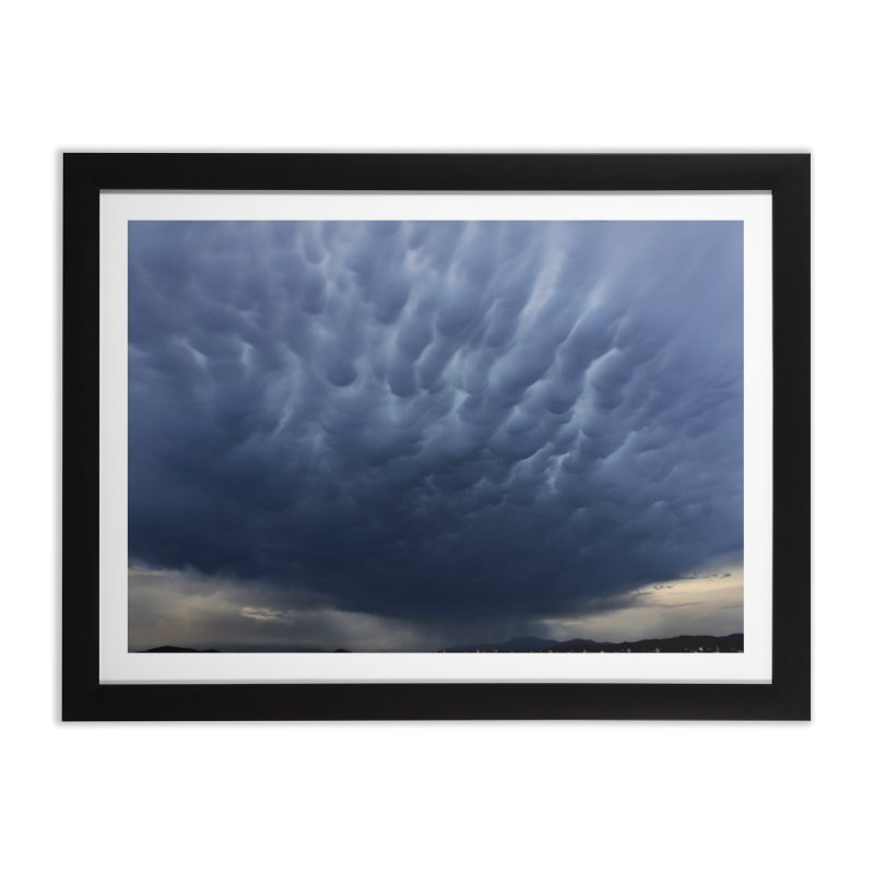 Mammatus Cloud Formation Near Temecula, CA Home Framed Fine Art Print by LlamapajamaTs's Artist Shop