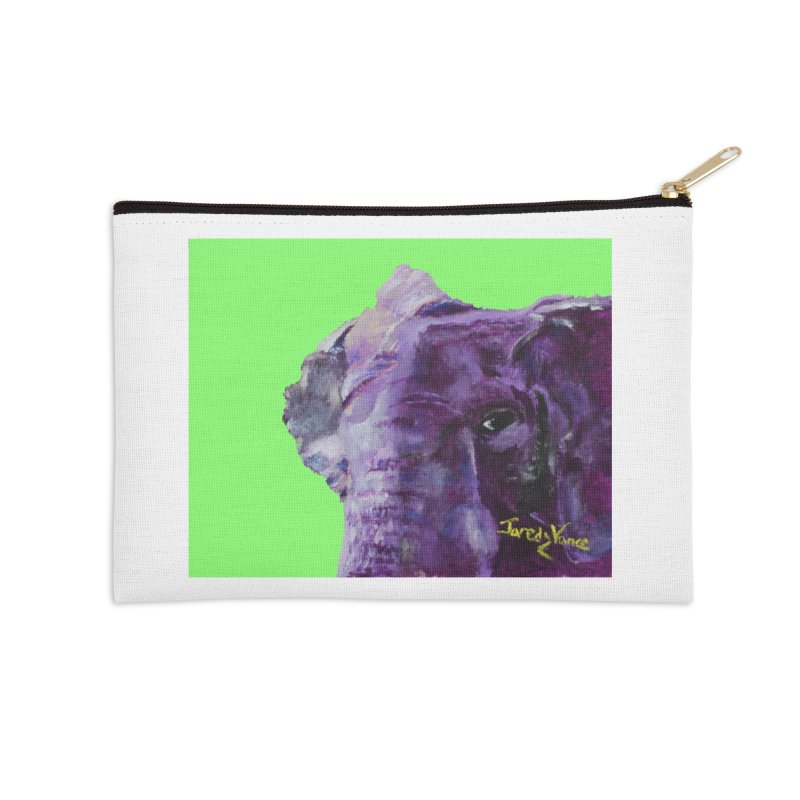 The Elephant in the Room Accessories Zip Pouch by LlamapajamaTs's Artist Shop