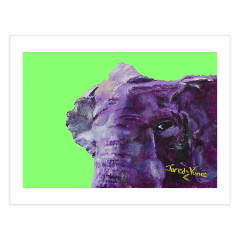 The Elephant in the Room Home Fine Art Print by LlamapajamaTs's Artist Shop