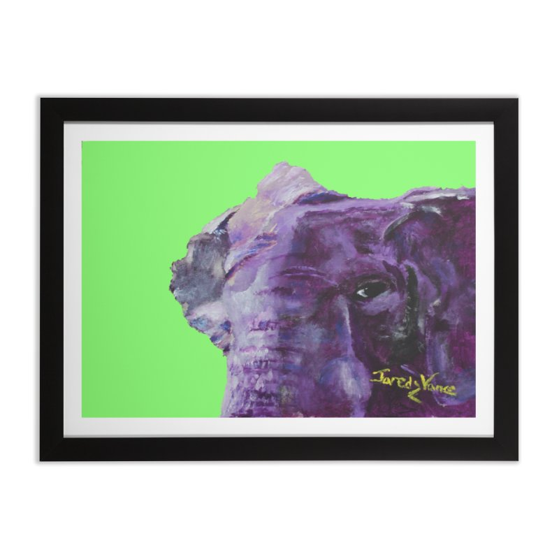 The Elephant in the Room in Framed Fine Art Print Black by LlamapajamaTs's Artist Shop