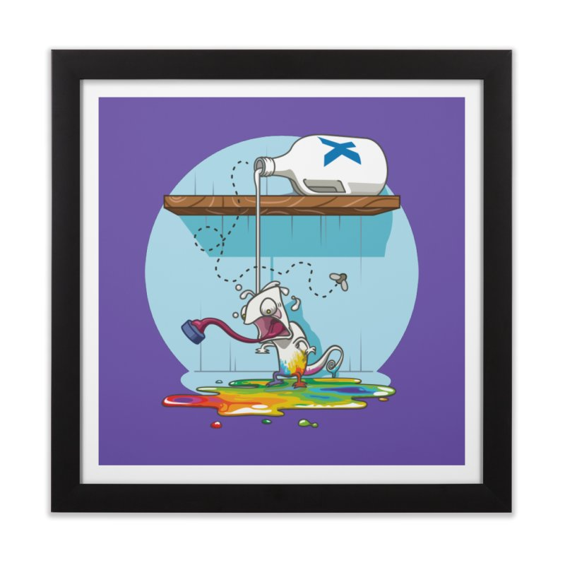 Gluttony goes colorless Home Framed Fine Art Print by Llorch's Shop