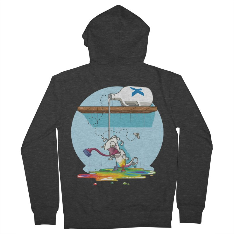 Gluttony goes colorless Men's French Terry Zip-Up Hoody by Llorch's Shop