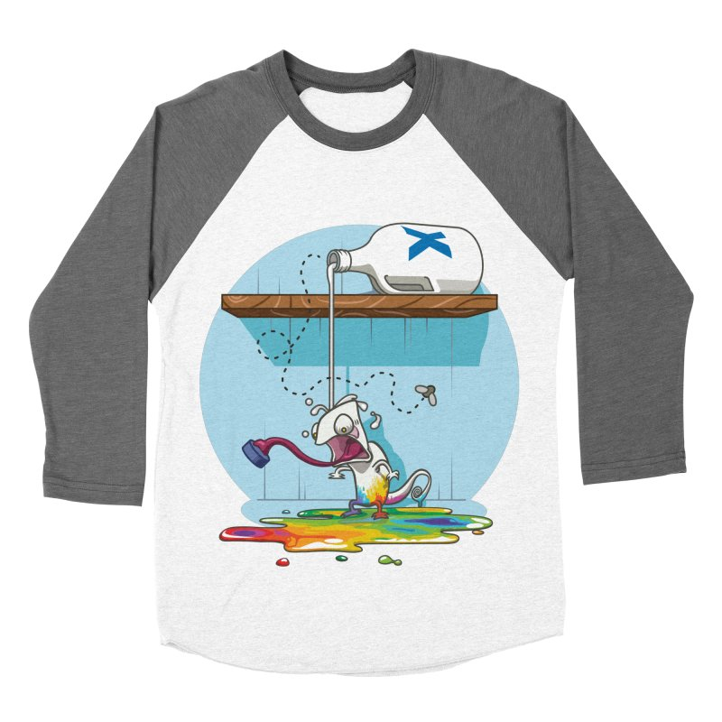 Gluttony goes colorless Women's Baseball Triblend Longsleeve T-Shirt by Llorch's Shop