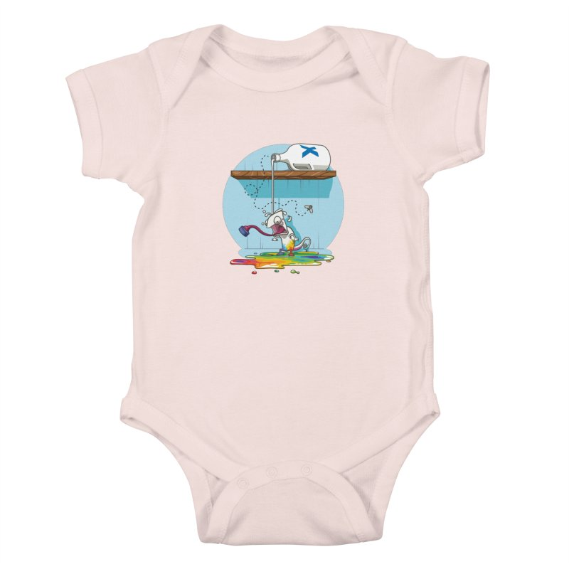 Gluttony goes colorless Kids Baby Bodysuit by Llorch's Shop