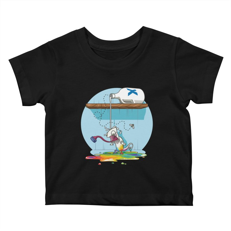 Gluttony goes colorless Kids Baby T-Shirt by Llorch's Shop